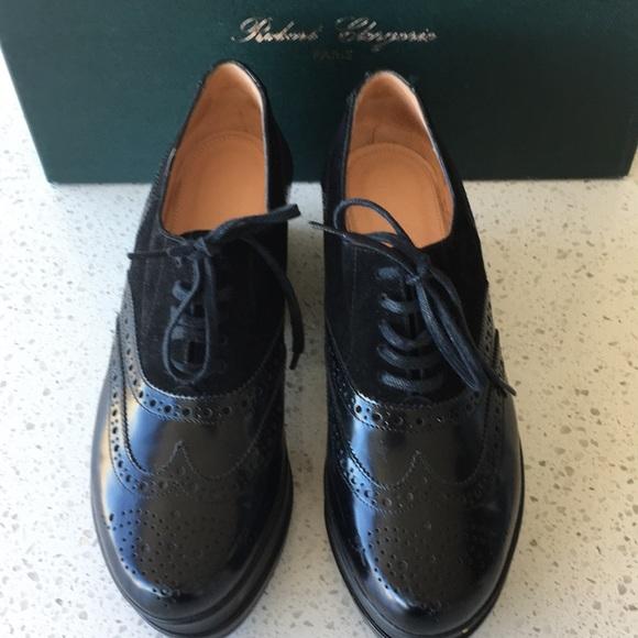 Robert Clergerie Shoes - Robert Clergerie Black Platform Oxford, size 7
